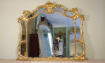 Antique mirrors at Hemswell Antique Centres