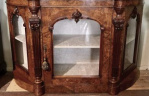 antique cabinet with glass