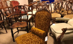 Antique chairs at Hemswell Antique Centres