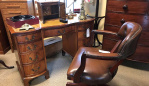 Antique desks at Hemswell Antique Centres