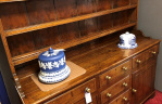 Antique shelves and racks at Hemswell Antique Centres